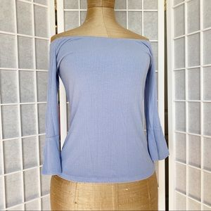 Lilac bell sleeves top